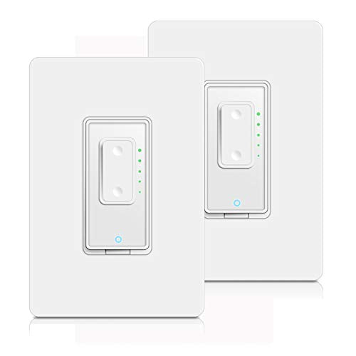 Smart Dimmer Switch by Martin Jerry SmartLife App, Mains Dimming ONLY, Compatible with Alexa as WiFi Light Switch Dimmer, Single Pole, Works with Google Assistant 2Pack