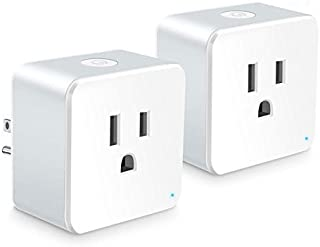 Wsiiroon WiFi Smart Plug - Best Wireless Outlet Plug for Alexa, Google Home - You Can Turn The Light On/Off from Anywhere(A Secured 2.4 GHz Wi-Fi Network Connection Required) - 2 Pack