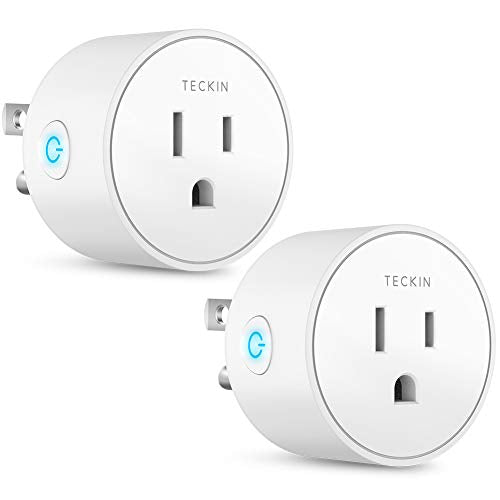 Smart Plug Works with Alexa Google Assistant for Voice Control, Teckin Mini Smart Outlet Home Automation Modules, No Hub Required, FCC ETL Certified,Only Supports 2 4GHz Network