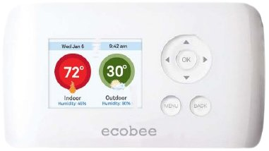 ecobee EB EMSSi 01 2 Heat 2 Cool Energy Management System Busness Commercial Thermostat, Full Color NON Touch Screen, Internet Enabled