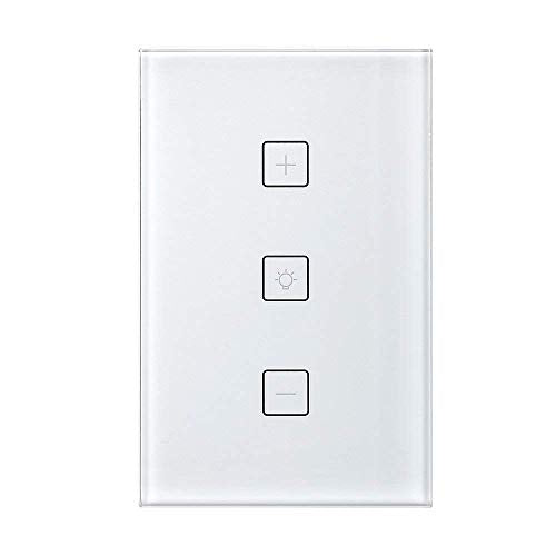 Smart Switch,Merkmak Wireless Wi Fi Lighting Control Adjust Light Brightness 15A No Hub Required Compatible with Amazon Alexa and Google Assistant Remote Control Schedule Your Fixtures Anywhere