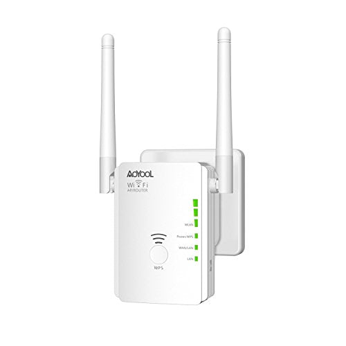 WiFi Extender Aoyool 300M WiFi Repeater WiFi Signal Booster Mode WiFi Amplifier Compatible with Alexa Extends WiFi to Smart Home Alexa Device