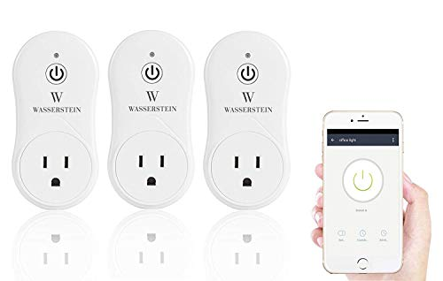 Smart Home Smart Plug by Wasserstein Compatible with Alexa for your Smart Home, Wi fi control all your Devices Wherever you are No expensive hub required, Simple Plug Play Smart Socket 3 Pack