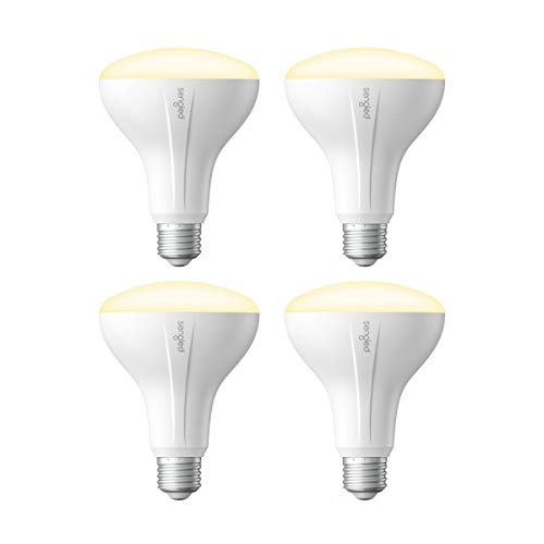 Sengled Smart Light Bulb, Smart Bulbs that work with Alexa, Google Home IFTTT Smart Hub Required , Smart LED Light Bulb BR30 Soft White Dimmable LED Light, 65W Equivalent, 9W 650LM, 4 Pack
