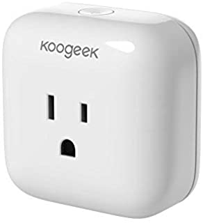 Smart Plug, Koogeek WiFi Plug Smart Outlet Compatible with Alexa, Apple HomeKit and Google Assistant, No Hub Required, Remote Control only 2.4Ghz Network UL&ETL&FCC certified (1 pack)