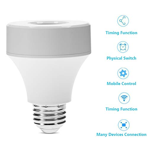 Smart Wifi Bulb Socket Smart Led Bulb Adapter work with Alexa and Google Home for Home Office