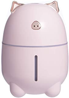 WUSHIYU Bedroom Humidifier Cute Pig Humidifier USB Air Humidifier 230ML Desktop Humidifier Easy to Carry (Color : Pink, Size : 912)