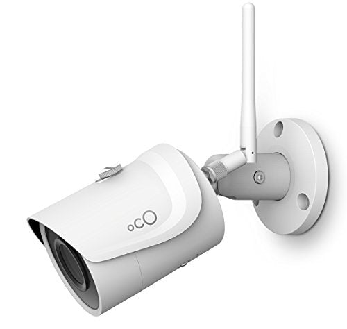 Oco Pro Bullet v2 Wi Fi 1080p Wireless Security Camera with Micro SD Card Support and Cloud Storage Weatherproof Outdoor Indoor 3Mpx IP Surveillance System with Remote Monitoring and Night Vision