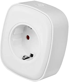 SPRAX WiFi Smart Socket, Compatible with Alexa and Google Home Voice Control Timer Switch Socket, Control Your Device at Any time,White,EU