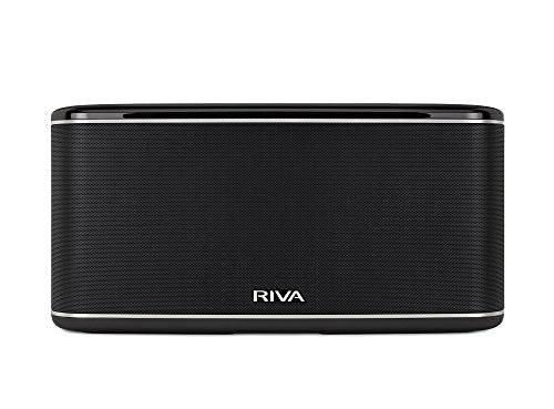 RIVA FESTIVAL Smart Speaker Mid Size Wireless for Multi Room music streaming and voice control works with Google Assistant Black