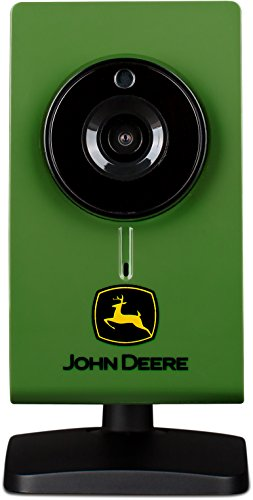 John Deere Wireless Indoor HD Security Camera Surveillance Monitor w Motion Detection, Night Vision, 2 Way Audio
