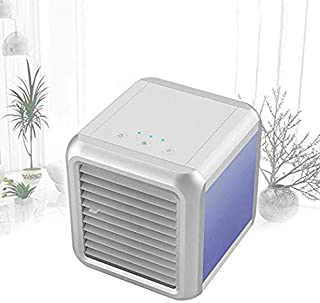 ZHIPENG Personal Air Conditioning Fan, Portable Desktop Air Humidifier with 7 Lights for Indoor and Outdoor Home Office Bedroom (No Noise)
