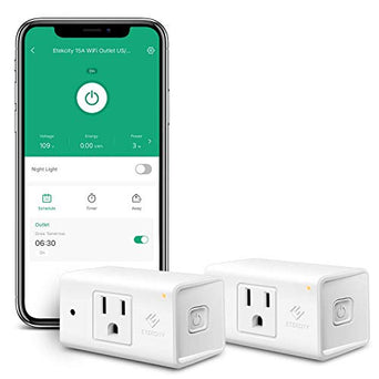 eufy WiFi Smart Plug with Energy Monitoring Compatible with Alexa and Google Home Control Your Devices from Anywhere Renewed No Hub Required