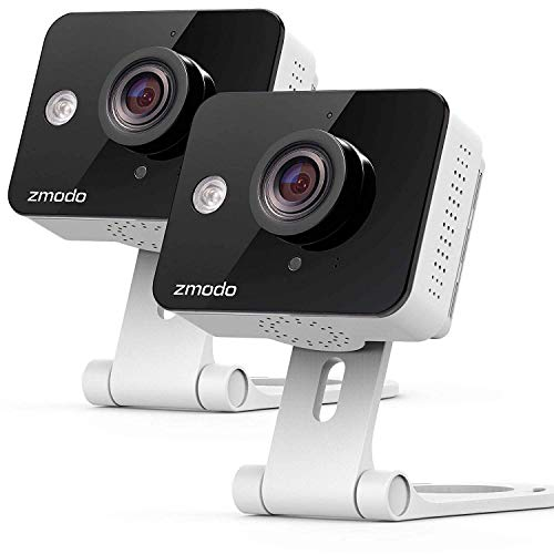 Zmodo Two Way Audio Mini WiFi Home Security Camera 2 pack
