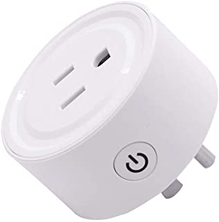YITA WiFi smart plug, compatible with alexa and google assistant, remote control with timer function, no hub required (white).