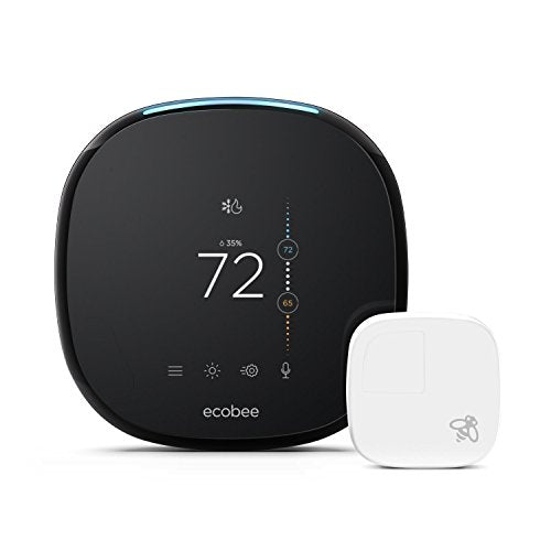 Ecobee4 Alexa Enabled Thermostat with 2 Extra Sensors Smarter Bundle Package