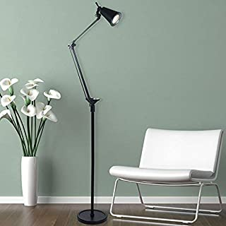 Lavish Home Adjustable LED Floor Lamp, Black (72