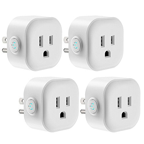 WiFi Smart Plug, Maxcio Smart Outlet Compatible with Alexa Echo, Google Home for Voice Control, Remote Control, Ifttt Enabled, Alexa Smart Plug Mini with Timing Function, No Hub Required, 10A 4 Pack