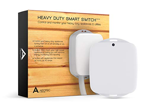 Aeotec Heavy Duty Smart Switch, Z Wave Plus Home Security ON OFF controller, 40 amps record electricity consumption