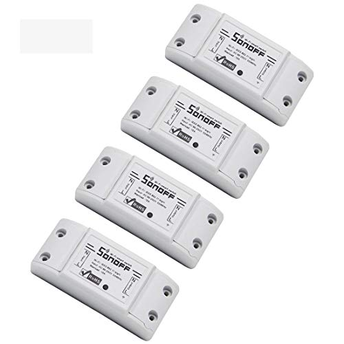 Sonoff Basic Smart Remote Control Wifi Switch Compatible with Alexa DIY Your Home via Iphone Android App Sonoff 4Pack