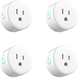 Smart Plug Wifi Enabled Voice Control Wireless WiFi Smart Plug Compatible with Alexa No Hub Required 4 Packs (White)
