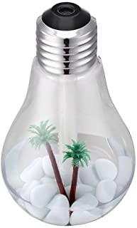 W/a/n/g USB Mini Light Bulb Air Humidifier Office Bedroom Household Mute Desktop (Color : B)