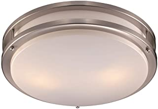 Trans Globe Imports LED-10262 BN One Light Flush Mount 17.00 inches, Brushed Nickel