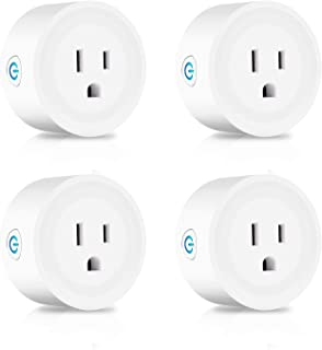 Intelligent Plug Mini Wifi Plug 4, Alexa Smart Outlet Timer compatible with Amazon Alexa Echo Google Home Assistant and IFTTT, No Hub Required Control Your Devices from Anywhere