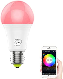 FGFGG E27 Smart Light Bulb,App Remote Control,16 Million Adjustable Colors,Compatible with Amazon Alexa, Google Assistant and IFTTT