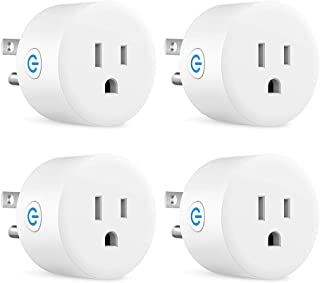 Sockets Wi-Fi Smart Plug, Mini Outlets Smart Socket No Hub Required Timing Function Control Your Electric Devices from Anywhere Compatible with Alexa and Google (White 4 Pack)