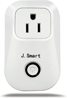 J.Smart Wifi Smart Outlet, Smart Plug, No Hub Required,Compatible with Alexa, Control your Devices from Anywhere, Occupies Only One Socket