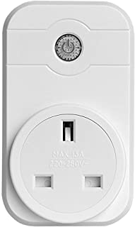 SPRAX WiFi Smart Socket, Compatible with Alexa and Google Home Voice Control Timer Switch Socket, Control Your Device at Any time,UK