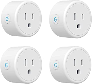 Smart Plug - WiFI Outlet Compatible with Alexa, Google Home & IFTTT, Remote Control Outlet Mini Socket with Timer Function, Smart Life, 2.4GHz Network Only - 4 Pack