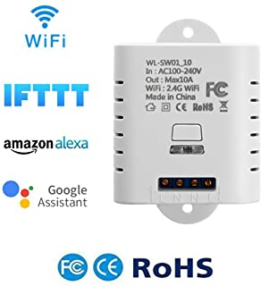 1-Channel WiFi Wireless Switch Controller Smart APP Voice Remote Control DIY Smart Home for Amazon Alexa