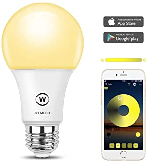 MagicConnect Dimmable Smart Light Bulb, No Hub Required, HaoDeng App Control Bluetooth Mesh Tech Smart Home Lighting Solution (Hub Required for Alexa Google Voice Control, Hub Sold Separately)