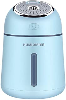 WRYCN Multi-Functional Portable Small Q Humidifier,Four in One Mini Aromatherapy Air Humidifier,for Car Desktop Bedroom Office(Two Pcs),Blue