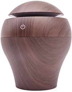 WUSHIYU Bedroom Humidifier Mini Air Diffuser for Essential Oils Cool Mist Air Humidifier Portable Oil Diffusers for Office Bathroom Bedroom Easy to Carry (Color : Deep Wood Grain, Size : 1012)