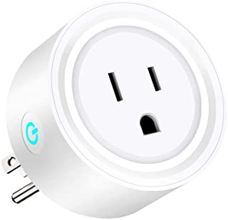Mini wifi socket, Wifi smart plug work with Alexa/Google home/echo/IFTTT, Wireless socket with timer function, smart life free app Remote Control &Voice Control Your Home Appliances from Anywhere