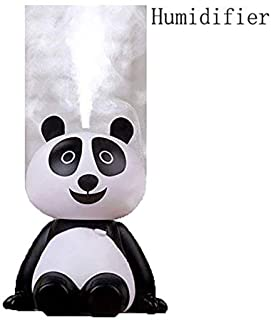 QWQ69 USB Cool Mist Air Humidifiers,Smart Panda Face Touch Air Humidifiers for Car Bedroom Cute Mini Humidifiers