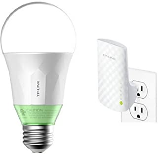 TP-Link Smart Wi-Fi LED 60W Equivalent Light Bulb (LB110) and TP-Link AC750 Dual Band Wi-Fi Range Extender (RE200)