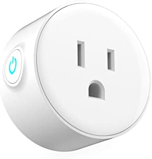 US Wifi Smart Plug, Cuitan Mini Outlet Smart Switch No Hub Required Wireless Energy Saving Device Socket with Timing Function, Remote Control Home Electronics by Smartphone Android/IOS, White (1pc)