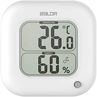 BALDR Thermo Square Thermometer and Hygrometer, White - TH0323WH1