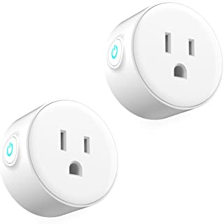 Smart Plug Mini Wifi Smart Socket Compatible with Alexa No Hub Required Remotely Monitor and Control Household Appliances 2 Pack (White)
