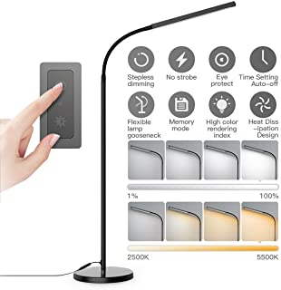 Floor Lamp, dodocool Touch Control Programmable Timer Floor Lamp for Living Room and 4 Color Temperatures Standing Lamp with Stepless Dimmer, 2500K-6000K 1850 Lumens LED Lamp for Bedroom,Home,Office