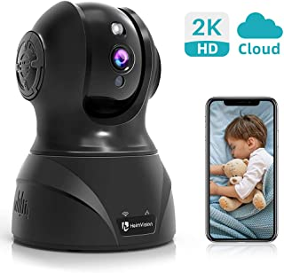 HeimVision HM302 2K HD Security Camera, 3MP Wireless Home IP Camera WiFi Indoor Pet Baby Monitor with Night Vision, 2-Way Audio, Face/Motion/Sound Dection Alerts&Cloud Storage, Works with Alexa