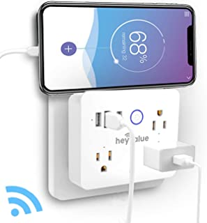 Smart Plug, Wifi Surge Protector, Voice Control with Alexa & Google Home, 3 AC Outlets 3 USB Wall Charger Travel Power Strip, App Control Appliances, Timing Schedule, No Hub Required