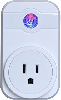 GZCRDZ WIFI Smart Plug Mini Wireless Socket Outlet Compatible with Amazon Alexa Echo Dot Google Home App Remote Control from Anywhere No Hub Required Timing Switch Home Device Energy Saving (White)