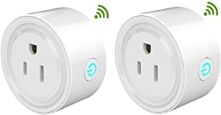 Smart Plug Mini (2-Pack), No Hub Required, Wi-Fi, Compatible with Alexa and Google Home, Control your Devices from Anywhere, Occupies Only One Socket Conversion plug