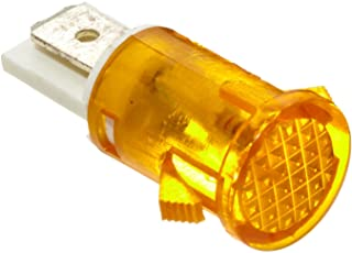 Morris Products 70322 Round Indicator Pilot Lamp, Amber, 250 VAC (Pack of 10)