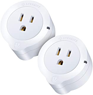 VeSync Smart Plug by Etekcity, 2 Pack Mini WiFi Outlets, Works with Alexa, Google Home & IFTTT, Remote Control from Anywhere, WiFi Energy Monitoring with Schedule Function, No Hub Required, ETL Listed